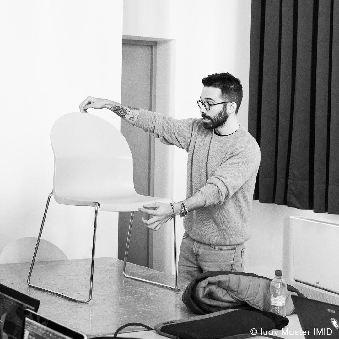 iuav master IMID lezione modellazione 3D avanzata lorenzo zaccarin aida chair Magis richard sapper