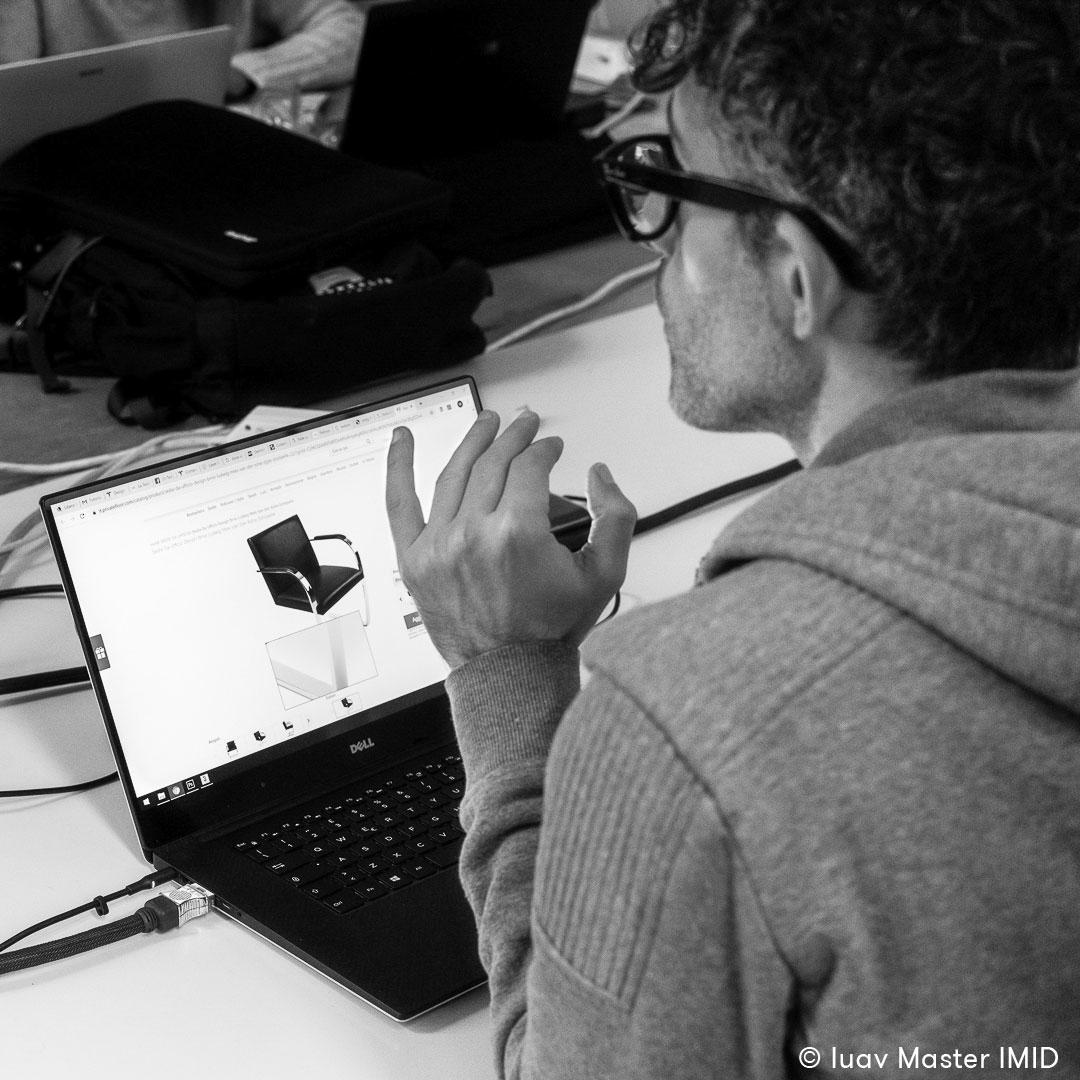 iuav master IMID modellazione 3D lezione matteo morassut brno chair knoll mies van der rohe