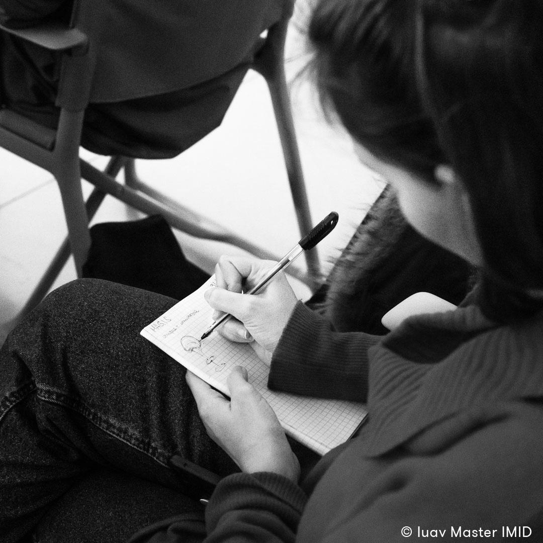 iuav master IMID visita headquarter Magis studenti sketch