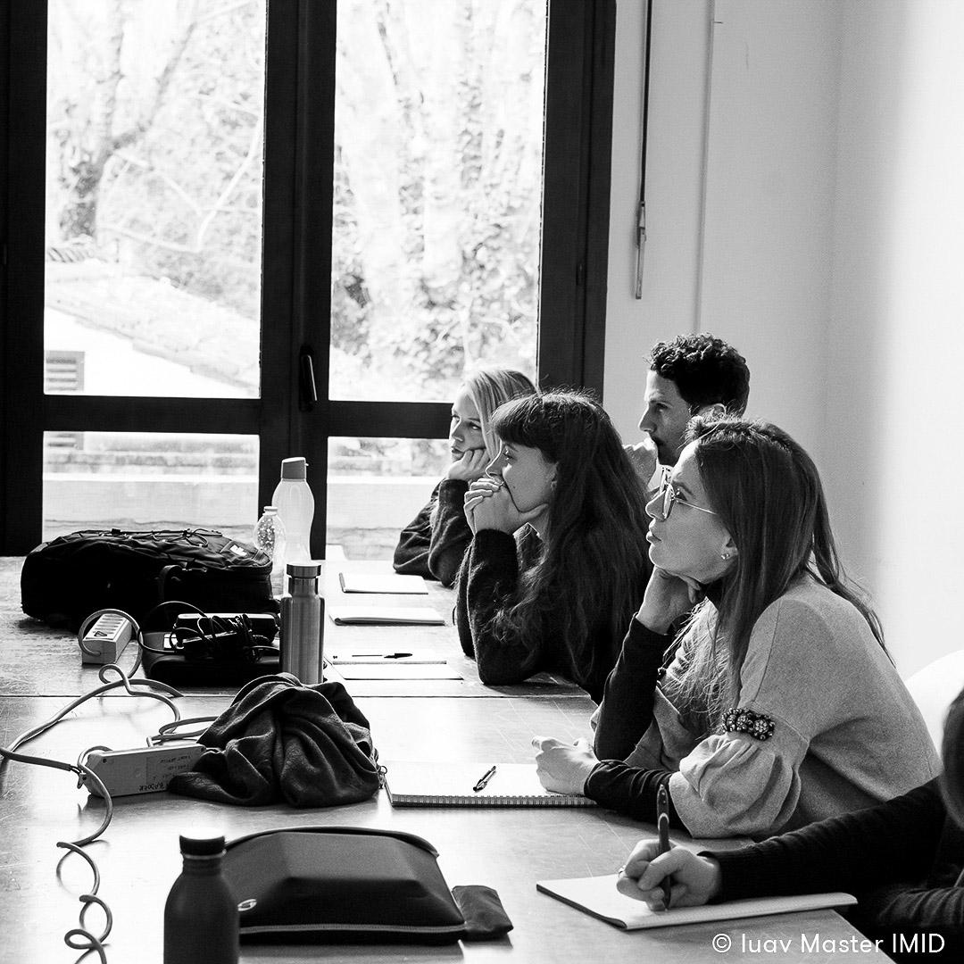 iuav master IMID lezione comunicazione visiva studenti