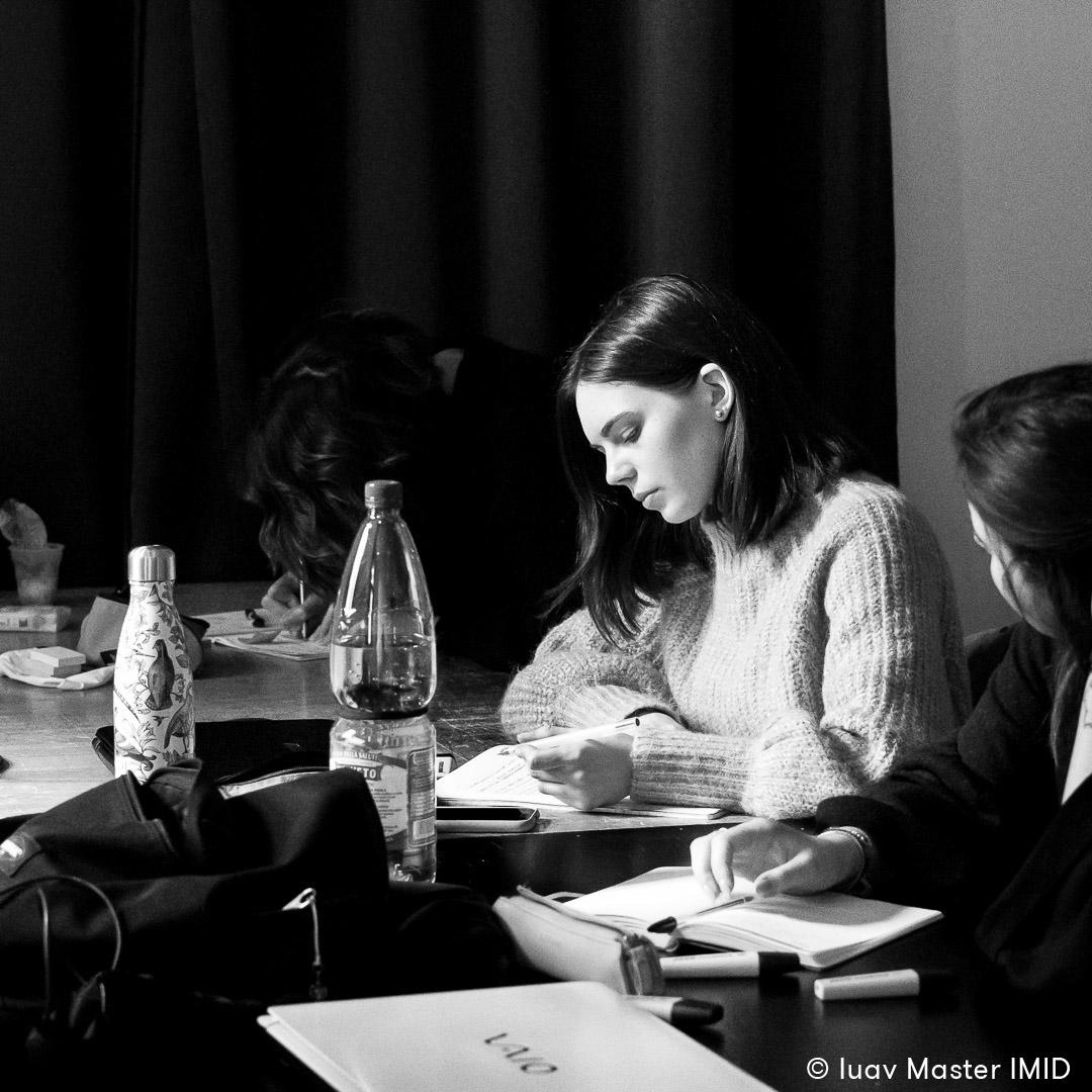iuav master IMID teoria dell'immagine esercitazione in aula studenti