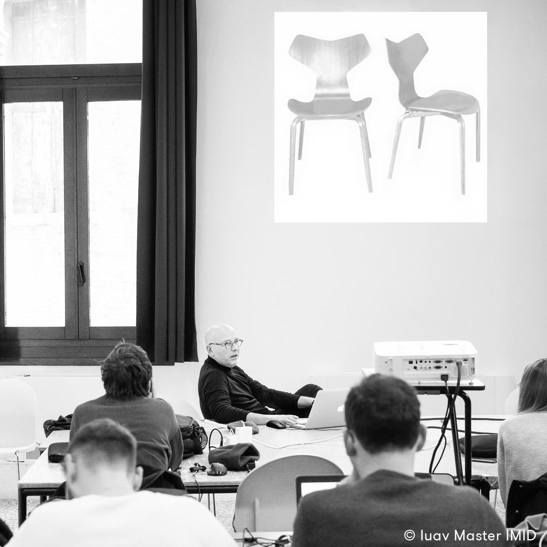 iuav master IMID lezione interior design giovanni siard fritz hansen chairs