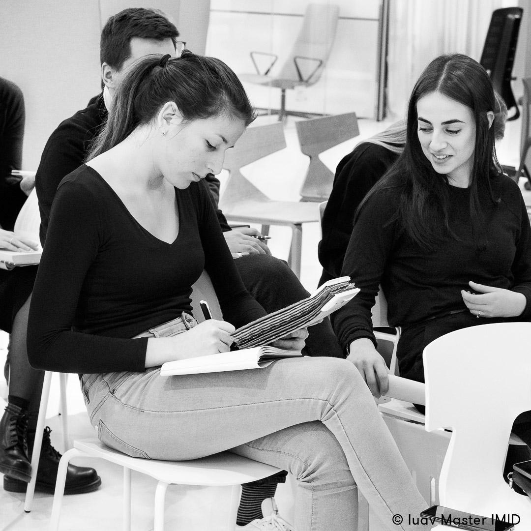 iuav master IMID campus Ambiente Ufficio padova lezione in azienda studenti interior design