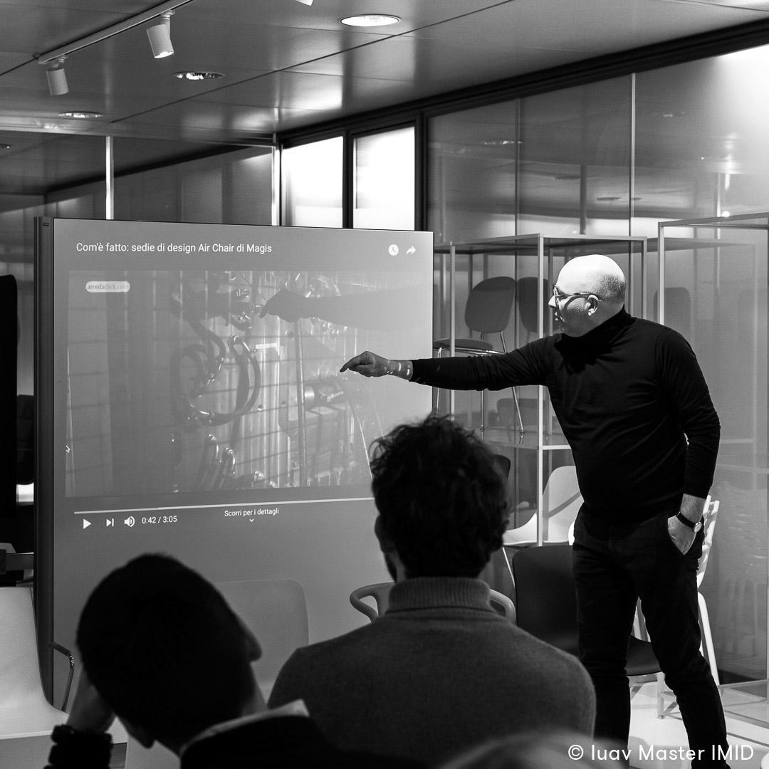 iuav master IMID campus Ambiente Ufficio lezione interior design in azienda giovanni siard