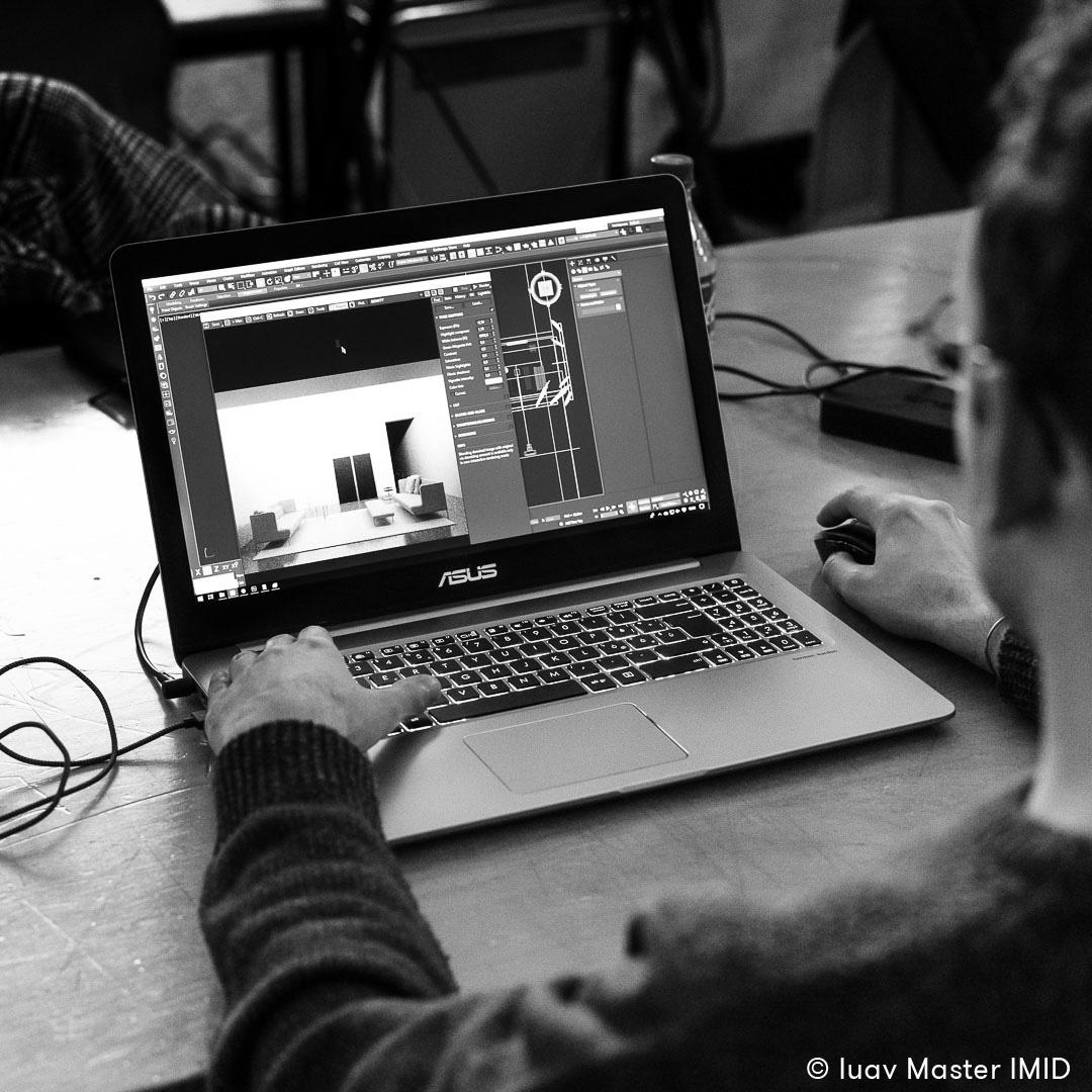 iuav master IMID lezione rendering e post-produzione 3dsmax living divani render